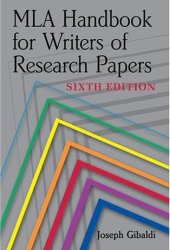 MLA Handbook for Writers of Research Papers Pdf Book