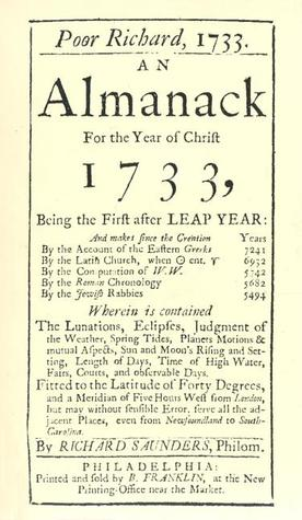 Poor Richard's Almanack for 1733: For the Year of Christ 1733
