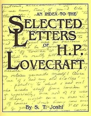 An Index To The Selected Letters Of H.P. Lovecraft