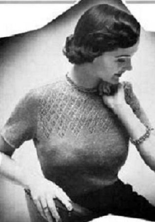 TWINKLE SWEATER - A Vintage 1940's-1950's Knitting Pattern for a Ladies Knitted Sweater (Knit Cratfs Yarn clothes clothing) Kindle e-Book Download