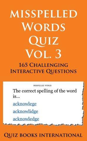 Misspelled Words Quiz Vol. 3