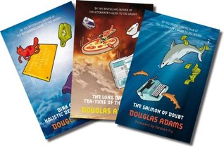 Three book set, includes The Salmon of Doubt, Dirk Gently's Holistic Detective Agency, and The Long Dark Tea-Time of the Soul