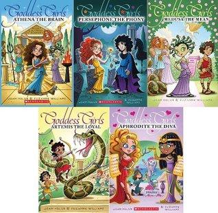 Goddess Girls 5 Book Boxed Set: Artemis the Loyal, Aphrodite the Diva, Athena the Brain, Persephone the Phony, Medusa the Mean (Goddess Girls, 5 Book Set)