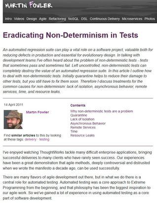 Eradicating Non-Determinism in Tests
