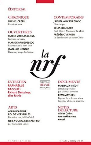 La Nouvelle Revue Française N° 613