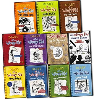 Diary of a Wimpy Kid Collection 11 Books Set Pack by Jeff Kinney RRP: £90.97 (The Long Haul, Hard Luck, The Third Wheel, Cabin Fever, The Ugly Truth, Dog Days, The Last Straw, Rodrick Rules, Do-It-Yourself Book, The Wimpy Kid Movie Diary)