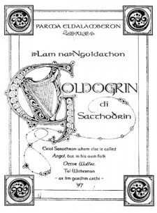 Parma Eldalamberon XI: I Lam na Ngoldathon, The Grammar and Lexicon of The Gnomish Tongue