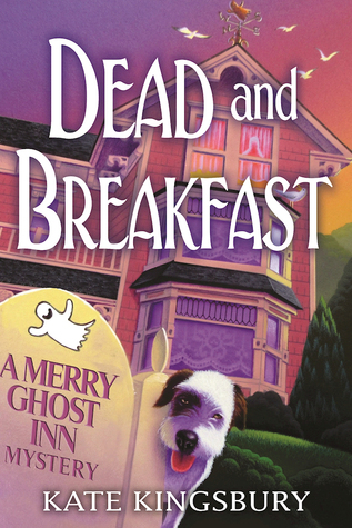 cover of dead and breakfast, it's of a house, and a dog