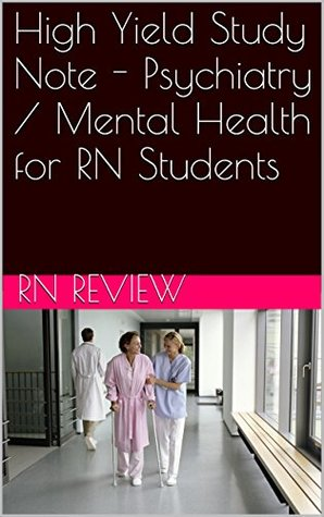 High Yield Study Note - Psychiatry / Mental Health for RN Students