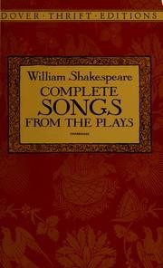 Complete Songs from the Plays