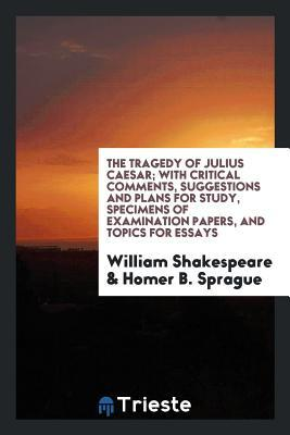 The Tragedy of Julius Caesar; With Critical Comments, Suggestions and Plans for Study, Specimens of Examination Papers, and Topics for Essays