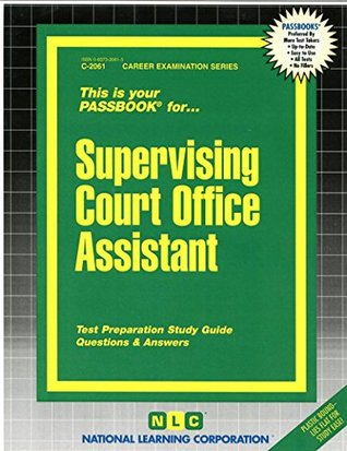 Supervising Court Office Assistant(Passbooks)