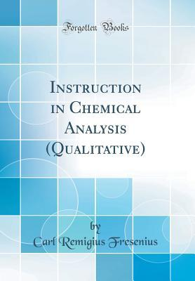 Instruction in Chemical Analysis (Qualitative)
