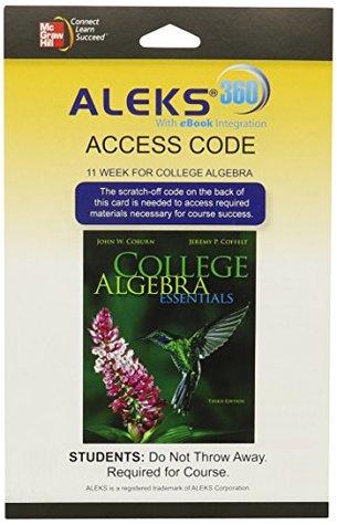 Aleks 360 Access Card (11 Weeks) for College Algebra Essentials
