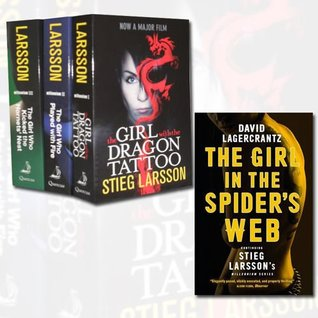 Stieg Larsson Millennium Trilogy Collection 4 Books Set (The Girl with the Dragon Tattoo, The Girl Who Kicked the Hornets' Nest, The Girl Who Played with Fire, The Girl in the Spider's Web: Continuing Stieg Larsson's Millennium Series)