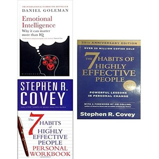 Emotional intelligence, 7 habits of highly effective people and personal workbook 3 books collection set