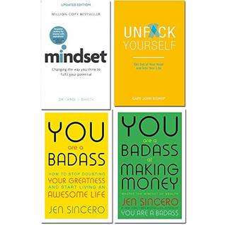 Mindset carol dweck, unfck yourself, you are a badass, you are a badass at making money 4 books collection set