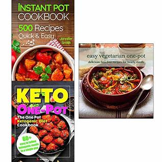 Instant pot pressure cooker cookbook, one pot keto diet, easy vegetarian one-pot 3 books collection set