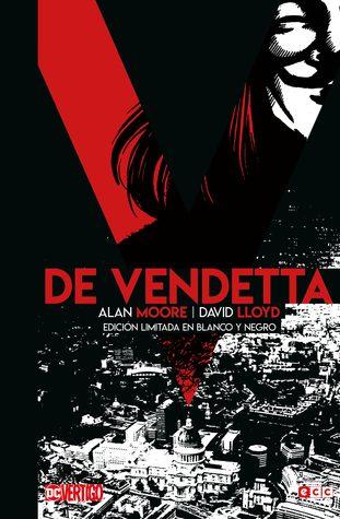 V de Vendetta en blanco y negro
