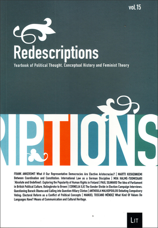 Redescriptions: Yearbook of Political Thought, Conceptual History and Feminist Theory, Vol. 15