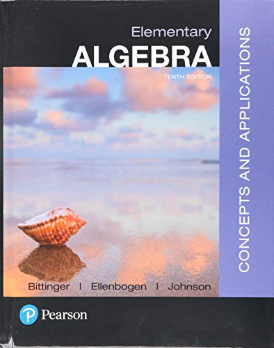 Elementary Algebra: Concepts and Applications with Integrated Review and Worksheets plus MyLab Math with Pearson e-Text -- Access Card Package (10th Edition)