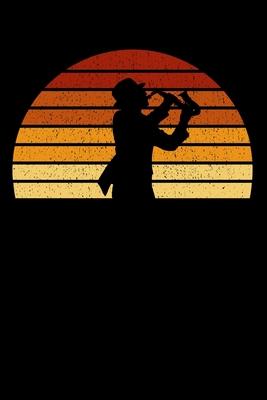 Saxophonist Notizbuch: A5 Liniert 108 Seiten - Vintage Sonne Saxophon Notizheft - Geschenk f�r Saxophonisten
