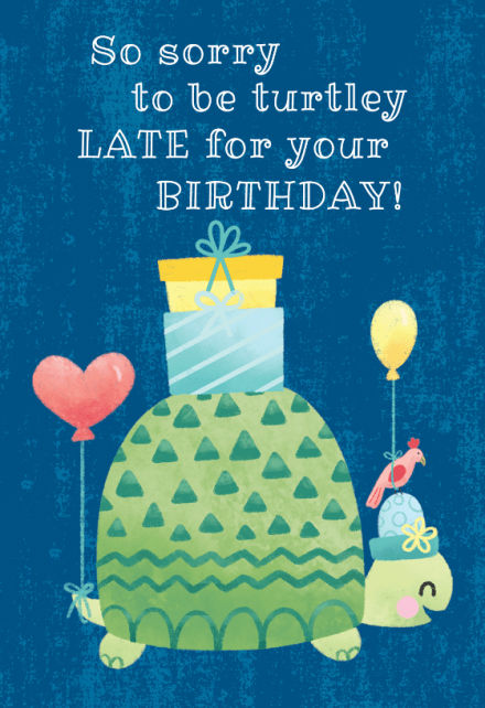 belated birthday cards free