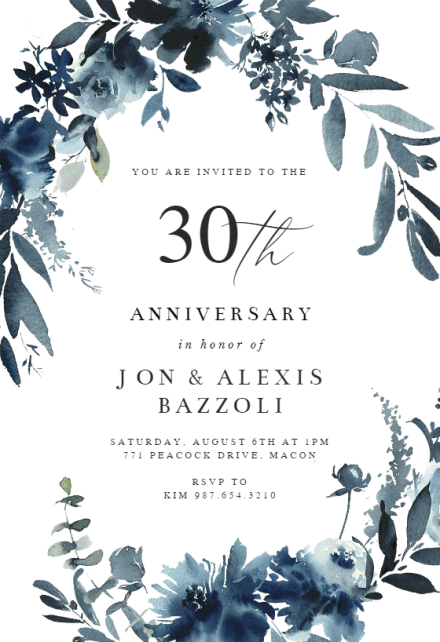 anniversary invitation templates free