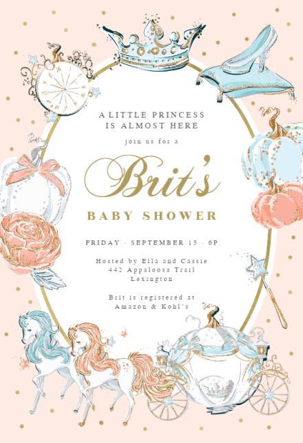 Cinderella Carriage Baby Shower