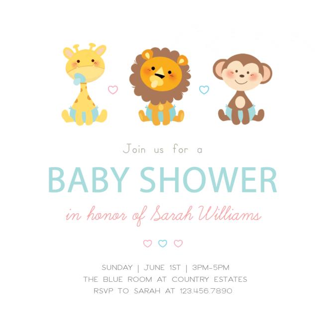 Cute Baby Animals Shower