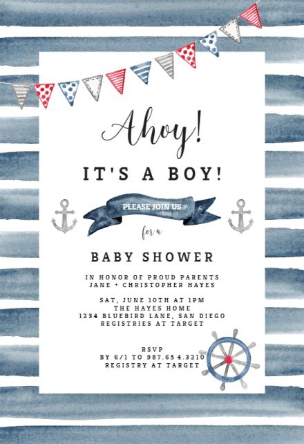 Invitaciones Para Baby Shower De Beb 233 Ni 241 O Gratis