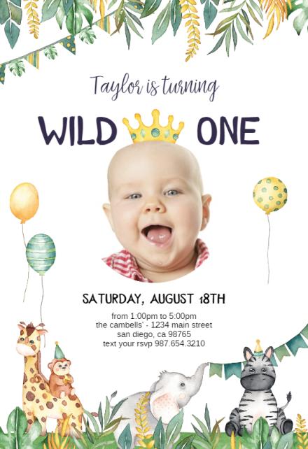baby birthday invitation templates