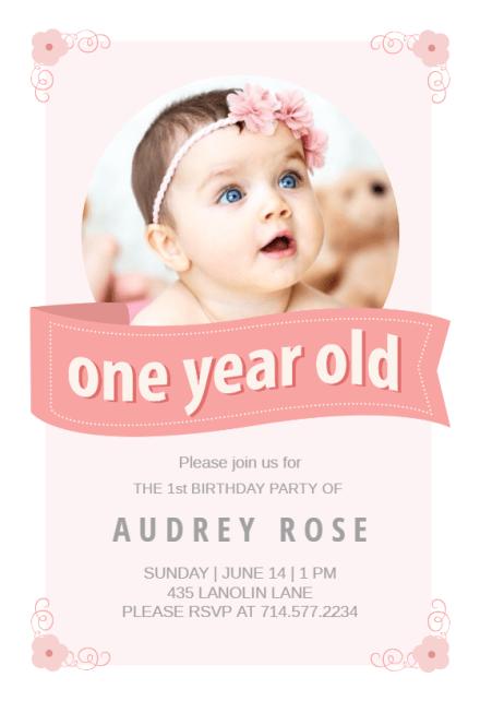 Birthday Invitations 1st Boy
