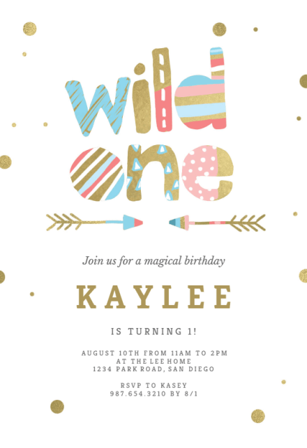 wild one indian tribal birthday
