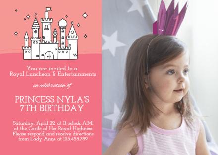princess birthday invitation templates