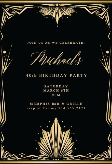 birthday invitation templates for him