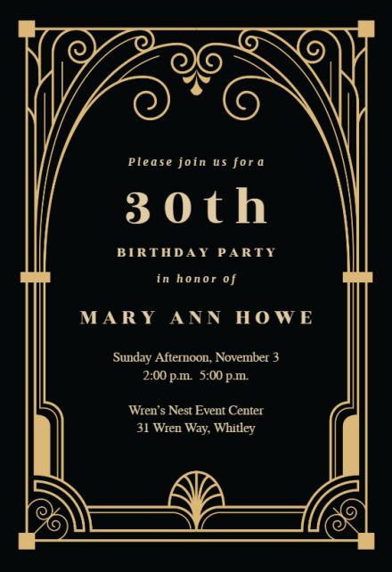 milestone birthday invitation templates