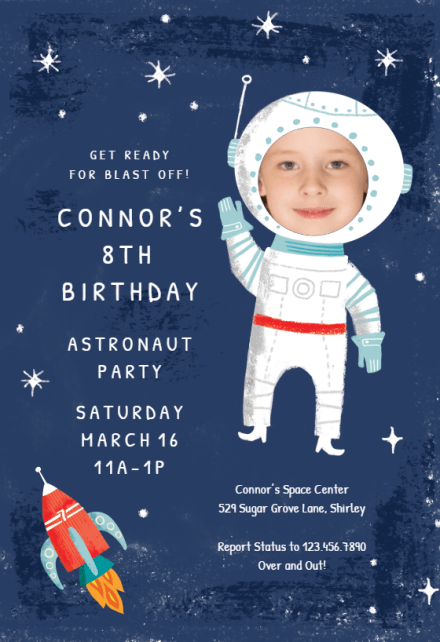 launched birthday invitation template