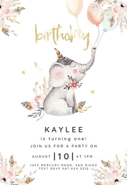 wild one birthday invitation templates