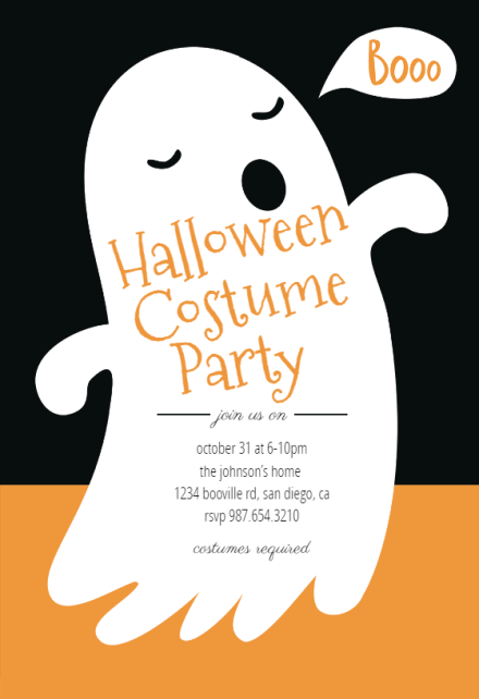 Parties are often personal, so it makes sense to announce the event with a personal touch in the form of personalized invites. Halloween Party Invitation Templates Free Greetings Island