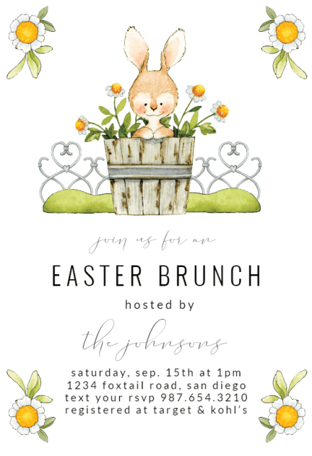 easter invitation templates free