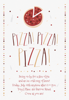 Pizza Party Invitation Template Free Greetings Island