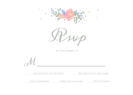 Tiered Wedding Cake Rsvp Card