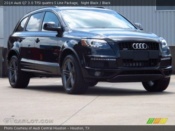 Night Black - 2014 Audi Q7 3.0 TFSI quattro S Line Package ...