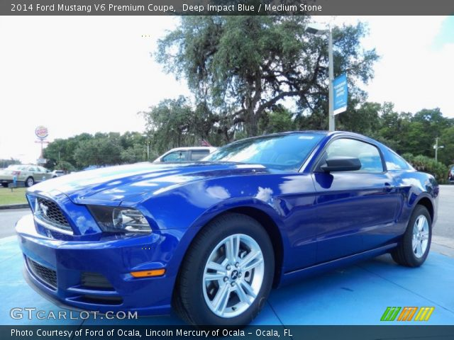 Gt Deep Ford Mustang Interior Impact Blue 2014 Stone