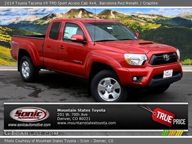 Tacoma Toyota 4x4 Red 2014
