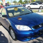 2004 Vivid Blue Pearl Honda Civic Lx Coupe 22327290 Gtcarlot Com Car Color Galleries