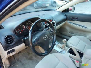 Beige Interior 2005 Mazda MAZDA6 i Sport Hatchback Photo