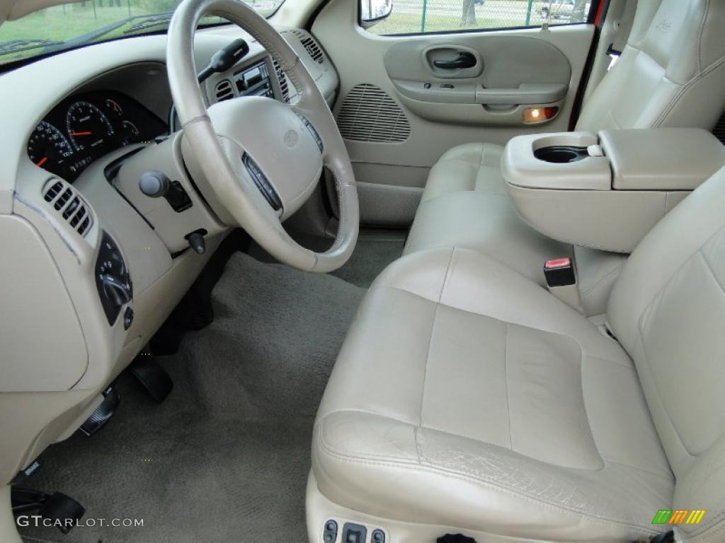 Medium Parchment Interior 2002 Ford F150 Lariat SuperCrew