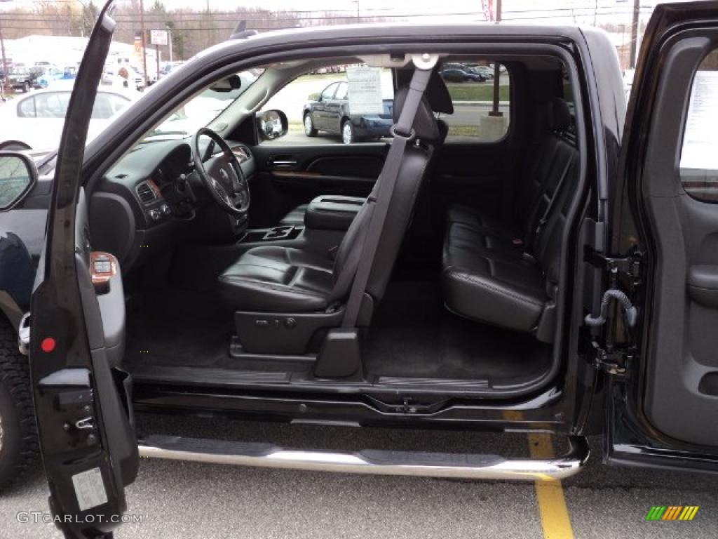 Ebony Black Interior 2007 Gmc Sierra 1500 Slt Extended Cab